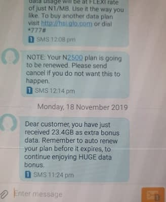 Glo free 23.4GB data