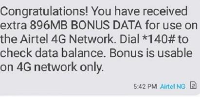 Airtel 6gb and it data bonus
