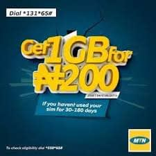 MTN 1GB for N200 & 4GB