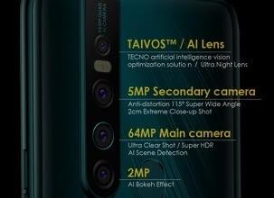 Photo of Camon 15 Premier Specs. & Price in Nigeria (64MP Camera, 6GB RAM)