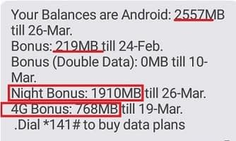 Airtel Double Data bonus Plan