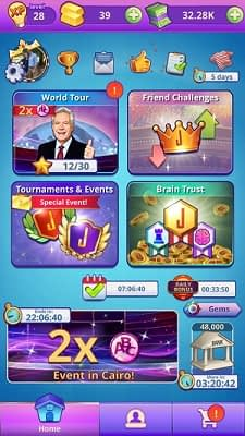 Apps to Play with friends Jeopardy! World tour