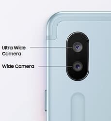 Galaxy Tab S6 wide and Ultra wide rear camera
