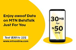 MTN Awoof Data plan
