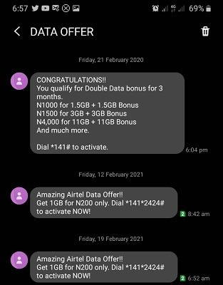 Airtel Data Offer