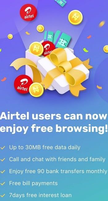 Free browsing on Airtel