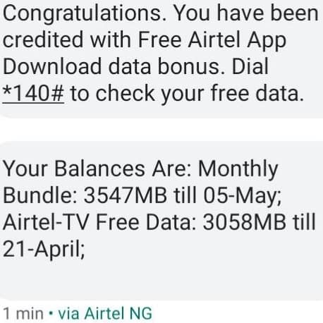 Airtel Free 3GB Data