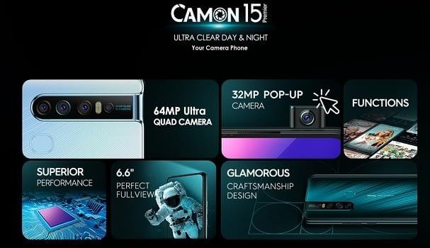Camon 15 Premier Specs