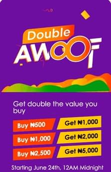 Free N500 for everyone Double Awoof